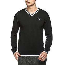 Puma Mens Cotton Sweater (4056207217105_83986501_X-Large_Black and White)