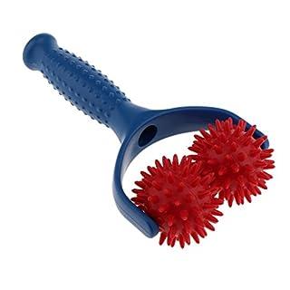 Sharplace Massage-Roller mit Griff Triggerpunkt Massageball Roller Massagebälle mit Noppen. in Verschiedenen Farben - Blau-Rot