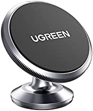 UGREEN Car Phone Holder Magnetic Dashboard Mobile Mount 2 Metal Plates Compatible with iPhone 13 Pro/13 Pro Ma