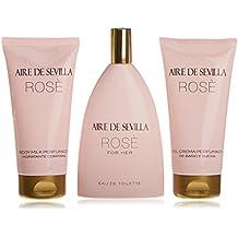 Aire de Sevilla Rosé Set para Mujer 150 ML + GEL 150 ML + BODY 150 ML