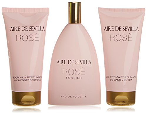 Aire de Sevilla Rosé Set para Mujer 150 ML + GEL 150 ML + BODY 150 ML