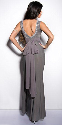 In-Stylefashion - Robe - Femme Rose Rose Gris - Gris