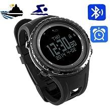 Sunroad FR803 Outdoor Herren Digital Bluetooth Smart Sport Watch, bis 5 m wasserdicht, Outdoor, Kompass, Höhenmesser, EL, Hintergrundbeleuchtung, Uhr, für Android 4.0 und Apple IOS 7.0