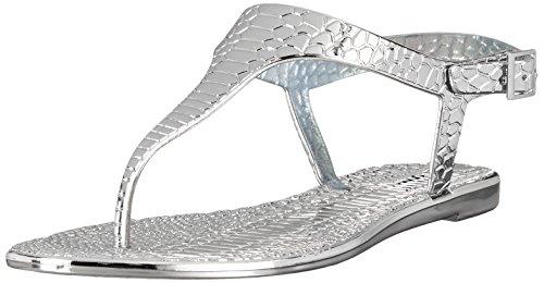 Buffalo Msd-08 New Pvc Damen Zehentrenner Silber (Silver)