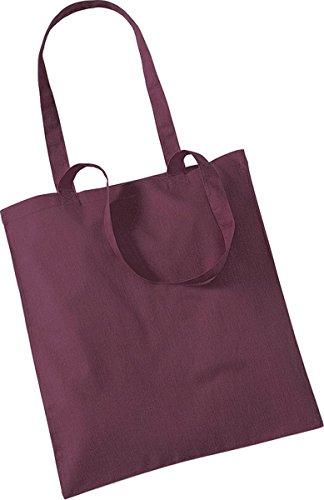 Westford Mill Shopper Handtasche Aufbewahrung Reisetasche Promo Schulter Tasche One Size Rot - Burgunderrot