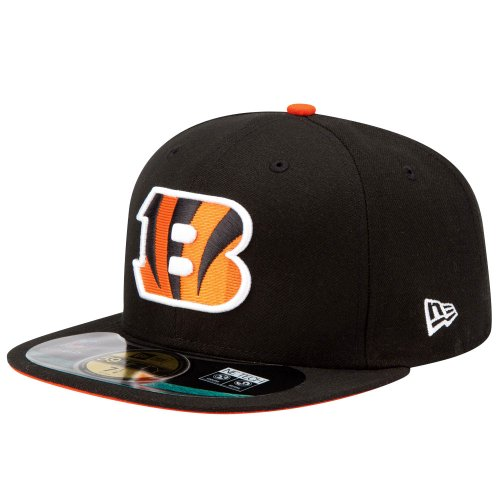 New Era NFL On Field Cincinnati Bengals 5950 Basic Fitted Team Basecap Cap Kappe(7 1/8) -