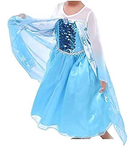 Inception Pro Infinite Größe 100 - 1 - 2 Jahre - Kostüm - Karneval - Halloween - ELSA - Mädchen - Bicolor - Frozen (Halloween-kostüm Frozen Elsa)