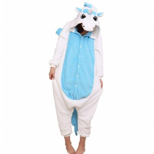 Ferrand - Kigurumi (Pyjama Onesie ou Costume Animal Cosplay) - Adulte Unisexe - Licorne Bleu
