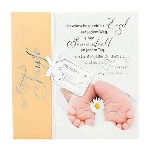 Depesche 4907.055 Glückwunschkarte Emotions in edlem Design, Taufe, Mehrfarbig