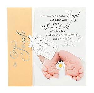 Depesche 4907.055Tarjeta de felicitación Emotions en diseño Elegante, Bautizo