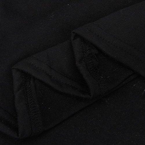 Gilet femme Ularmo Femmes Sexy Sun Printed Blouse Gilet sans manches T-shirt Blouse débardeurs Casual Noir