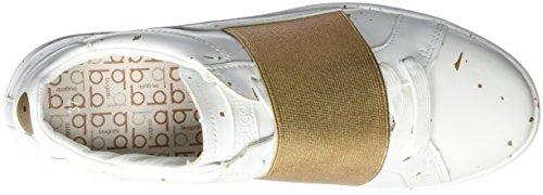 Bugatti - J7606pr6n, Scarpe da ginnastica Donna Bianco (Weiß (weiss / gold 235))