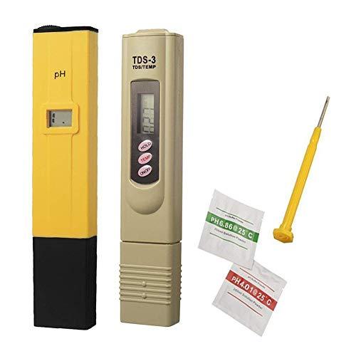 ZYCX123 2Pcs-PH TDS Tester portátil PH Medidor Digital de agua de acuario monitor profesional mini probador de la calidad del agua