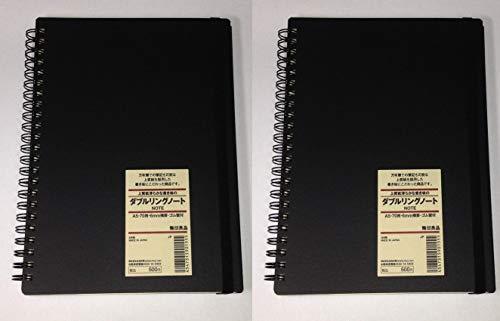 Muji Notizbuch mit festem Einband, A5, 6 mm Lineal, 70 Blatt, 2 Stück