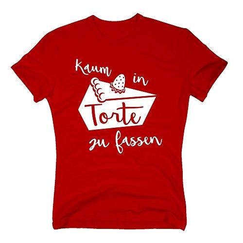 Herren T-Shirt - Kaum in Torte zu fassen - von SHIRT DEPARTMENT rot-weiss