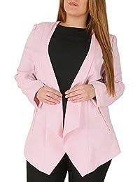 0f810c19d9c Emily Ladies Plus Size Light Pink Waterfall Zip Pocket Jacket