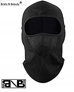 Sikander- Imported Unisex full face cover Breathable Cotton Fabric and Spandex Ski Cover Balaclava Windproof Bike Face Mask for Bikers (Black)