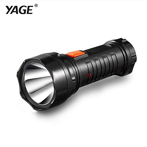Generic White, Black : 2016 Tazer Yage-3738 Led Flashlight Rechargable Torch Built-in Battery Light 2-mode Lanterna Linterna Lampe Torche