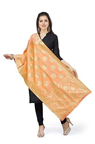 Rani Saahiba Art Silk Zari Woven Dupatta/Stole ( SKRDD1568_Bright Orange )
