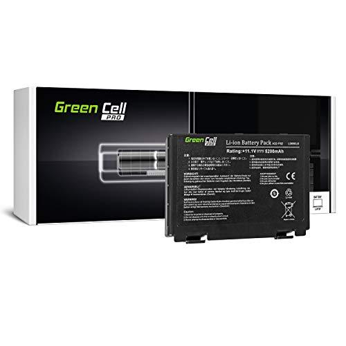 Green Cell PRO Serie A32-F82 A32-F52 Batteria per Portatile Asus K50 K50AB K50C K50i K50IJ K50iN K51 K51AC K70 K70IJ K70IO (Le Pile Originali Samsung SDI, 6 Pile, 5200mAh, Nero)