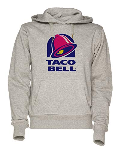 Jergley Taco Bell Unisex Grau Sweatshirt Kapuzenpullover Herren Damen Größe L | Unisex Sweatshirt Hoodie for Men and Women Size L