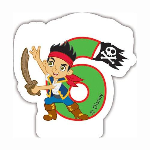 Disney Yo Ho Jake und die nie Land Piraten 6. Geburtstag Kerze