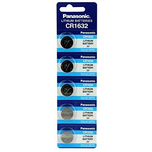 Panasonic CR1632 3 V Lithium-Batterie, 1 Packung (5 Stück) Einwegbatterien