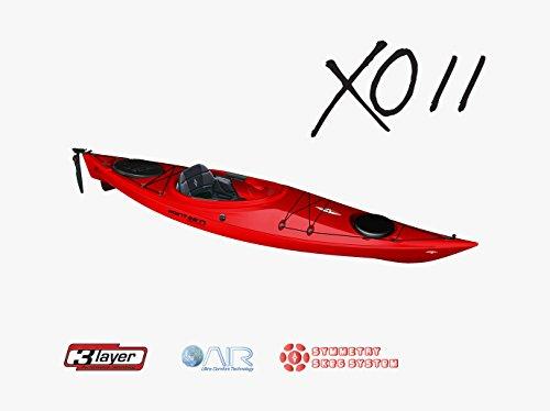 Point 65xo11GTE Rudder y skeg solo Kayak Rojo