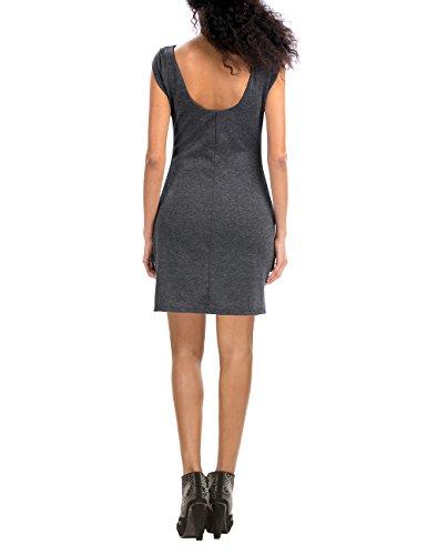 Desigual Vest_Tricia, Robe Femme Gris (GRIS VIGORE OSCURO 2043)