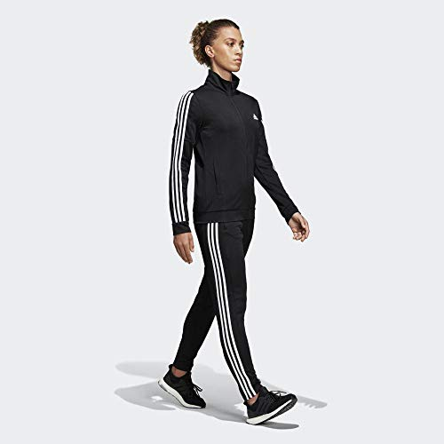 adidas WTS Team Sports Tracksuit, Mujer, Black/White, L