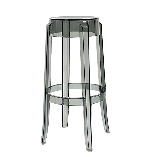 Sgabello da bar trasparente acrilico, sgabello alto minimalista moderno, sedia da tavolo in plastica da cucina, per cucina | colazione contatore | conservatorio | café | pub