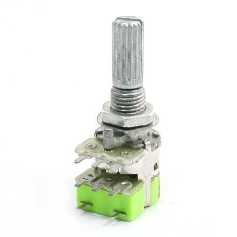 sourcingmap® Stereo B503 50K Ohm Dual Linear Taper Lautstärkeregler Potentiometer Schalter de