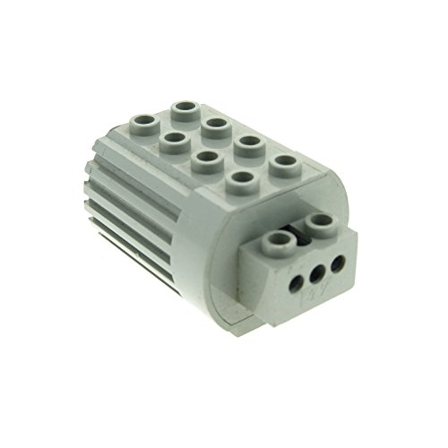 1 x Lego Technic Electric Motor alt-hell grau 4.5 V Motor Typ2 2 polige Anschlüsse mit mittel Pin Elektrik geprüft Set 5101 9605 8050 9700 1092 6216m2 (Technic Lego Electric)
