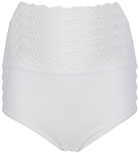 41rRnXRf6UL - BEST BUY #1 Ex Store Multipack Cotton Full Briefs Knickers 5 Pack White Lace 14 Reviews and price compare uk
