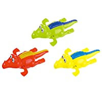 Lalang 1pc Baby Toddler Bath Toys Clockwork Swimming Crocodile Bath Toys, Random Color