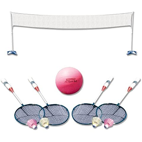 Poolmaster 72788 Across Pool Volleyball / Badminton Game Combo by Poolmaster