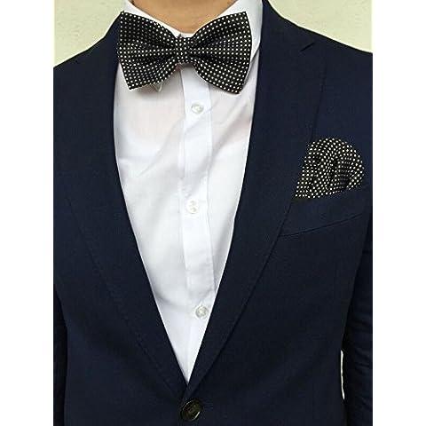 good. Designs–Cabeza Toalla con pajarita de Slim Fit de Line ajustable en rojo, azul y fijación Negro, rojo, ajustable
