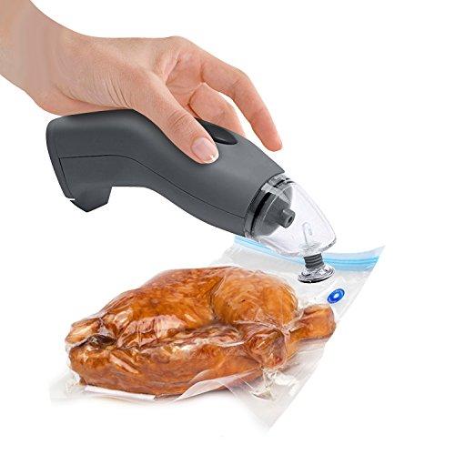 Melissa 16310179 Vakuumiergerät für Lebensmittel, Hand Vakuumierer kabellos ideal für Sous Vide Elektrischer Handvakuumierer, batteriebetrieben Elektrischer Vakuumierer