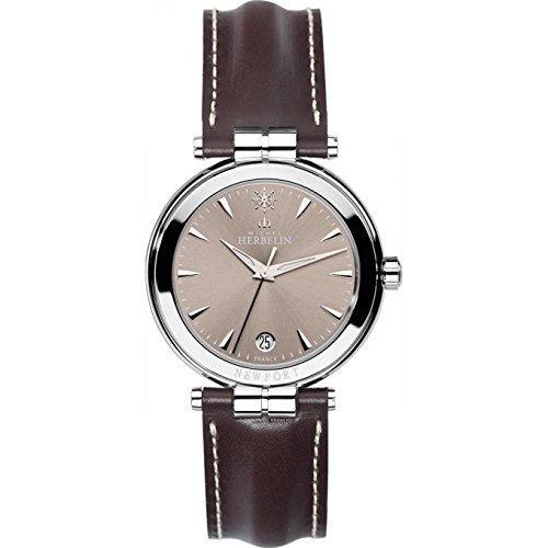 Michel Herbelin Newport Reloj de hombre color marrón oscuro/plata/marrón 12264/AP17