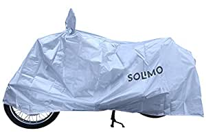Amazon Brand - Solimo Royal Enfield Water Resistant Bike Cover (Silver)