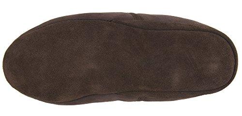 Herren Echtes Full Lammfell Drehen Slipper mit weicher Sohle Größen 6–13UK (Schokolade, Chesnut) Schokolade