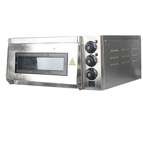 Professional pizza oven with 400 x 400 mm alla pietra refrattaria back surface, gastro pietra forno for pizza, bread and pastry ,2000 watt, la temperatura forno può essere regolato fino a 350 °c