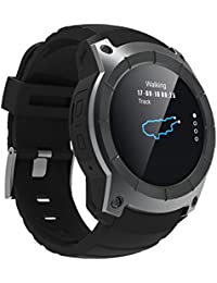 Blue-Yan Mode Montre Intelligente Montre de Sport Montre de Rappel de fréquence Cardiaque étanche GPS Compatible avec Android iOS