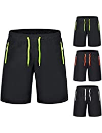 51aebabb1f [by Yinsoouli] Mens Short Swim Trunks Quick Dry Boy Mens Board Shorts  Watershort Pant