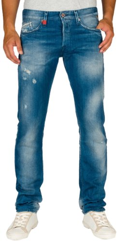 Replay Herren Straight Leg Jeans Waitom M983 Blau (10)