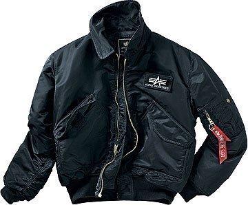 Alpha Industries CWU 45 Jacke schwarz Bomberjacke Fliegerjacke (4XL)
