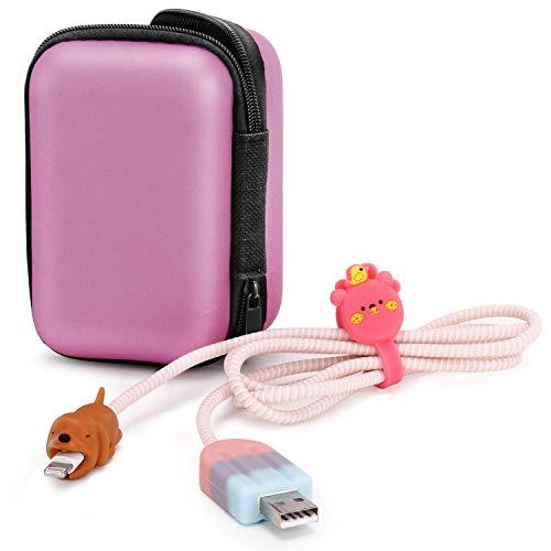 Henpone 5PCS Cable Bite (Hund+Eiscreme+Wicklungslinie+Kasten+DatenleitungssatzFür iPhone/iPad Kabel Biss Cord Saver Protector Handy-Zubehör(kein Kabel enthalten)