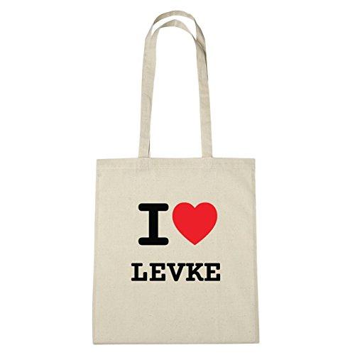 JOllify Brilliant Levke di cotone felpato B5620 schwarz: New York, London, Paris, Tokyo natur: I love - Ich liebe