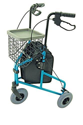 Z-Tec Folding Lightweight Aluminium Tri-Walker with Tray, Bag & Basket - Frost by Z-Tec (Frost Walker)