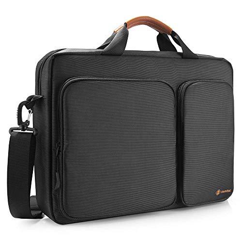 tomtoc Laptoptasche Schultertasche 15/15,6/16 Zoll Lenovo ThinkPad/Acer Aspire/HP Notebook Laptop Tasche Business Notebooktasche Aktentasche Damen & Herren, Schwarz